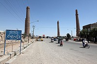 ancient minarets in Herat, Afghanistan