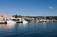 Horta Harbor, Horta, Faial Island, Azores, Portugal, Europe