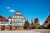 Monastery yard, Cistercian monastery, Maulbronn, Baden_Wuerttemberg, Germany