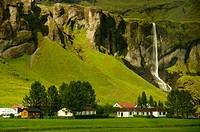 Steep cliffs near of VIK  South Iceland
