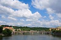 Manesuv Bridge above the River Vltava, Prague, Czech Republic