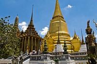Phra Sri Rattana Chedi in King´s Palace Wat Phra Kaeo, Bangkok, Thailand