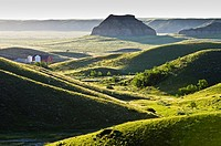 Red Barn, Big Muddy badlands, Saskatchewan, Canada