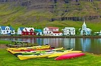 Kayaks, Seydisfjördur, Iceland