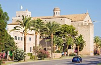 Alcudia, church and walls, Majorca, spain
