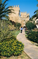 Porta de Mallorca, walls of Alcudia, Majorca, Spain