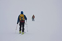 Men cross_country skiing, Columbia Icefields, Jasper National Park, Alberta, Canada