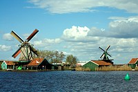 Windmills at Zaanse Schans, Netherlands, Europe