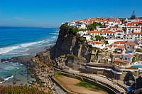 Azenhas do Mar, Lisbon district, Sintra coast, Portugal, Europe.