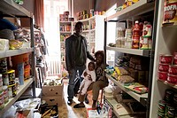 A family that runs a small Nigerian store, Warsaw Poland