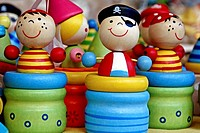 wooden toys, pirates
