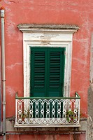 Traditional windows in Lipari, Italy