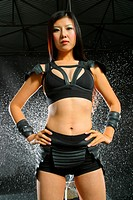 Young Kung fu Chinese model looks sexy and tuff