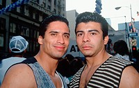 Two Puerto Rican men at Cinco de Mayo celebration, Los Angeles California