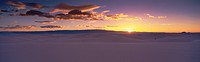 This is sunrise over White Sands National Monument.