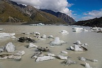 Tasman Glacier Lake Southern Alps New Zealand