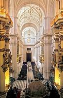 Cathedral Interior Central vault Granada  Andalucia, Spain