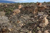 Ancient Anasazi ruins at Hovenweep National Monument, Utah.