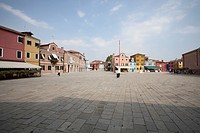 Town square at Burano Island
