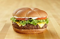 Cheeseburger with mayonnaise