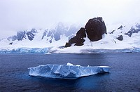 Glaciers and icebergs in Errera Channel at Culverville Island, Antarctica