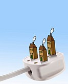 Uk plug with houses