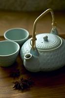 Celadon green teapot