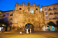 Santa Maria Gate. Burgos. Castilla-Leon. Road to Santiago. Spain.