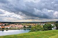 Panorama of the city, Berwick upon Tweed, England, UK