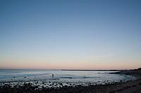 Point Judith lighthouse at sunrise, Rhode Island, USA