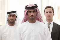 Middle eastern and western businessmen