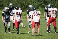 Junior American football game action Lappeenranta Finland