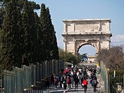 Italy, Rome, Arch of Titus