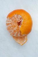 pealed tangerine