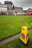 No parking in the Castle of Dublin Ireland
