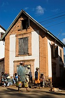 Traditional house in Ambositra, in the central highlands of Madagascar