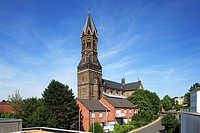 D-Bergisch Gladbach, Bergisches Land, North Rhine-Westphalia, D-Bergisch Gladbach-Bensberg, parish church Saint Nicolaus, catholic church