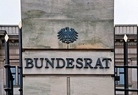 Building of the Bundesrat Federal Assembly with lettering, Berlin, Germany