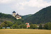 Karlstejn Castle on the hill