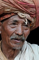 Portrait of a man in Durbar square