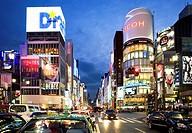 Ginza  Ginza St at Harumi St Tokyo city, Japan, Asia
