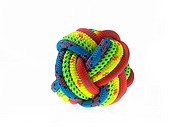 Ball of colorful rope
