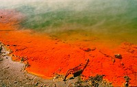 Geological phenomena in Rotorua. Champagne Pool. Thermal area of Wai-O-Tapu. Waikato Region. Australia