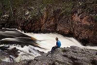 Kiutaköngäs rapids, Oulankajoki river, Kiutaköngäs day trail, National Park of Oulanka, Kuusamo, Finland
