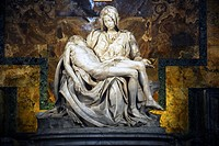 The 'Pieta' in St Peter's Cathedral  Rome  Italy