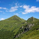 Views from the Puy Mary, Département Cantal, Region Auvergne, France, Europes