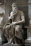 Statue of Moses in Santa Pietro in Vincoli church in Rome