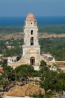 Convent of San Francisco seen from the Ermita de Nuestra Senora de la Candelaria de la Popa, a ruined church in Trinidad, Sancti Spiritus, Cuba.