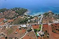 Niu Blau beach, Santa Eularia des Riu, Ibiza, Balearic Islands, Spain