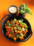 Ratatouille with pumpkin and basil